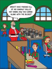 Pendant ce temps, dans l'atelier du Père Noël...