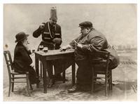 1913, partie de cartes autour d'un verre