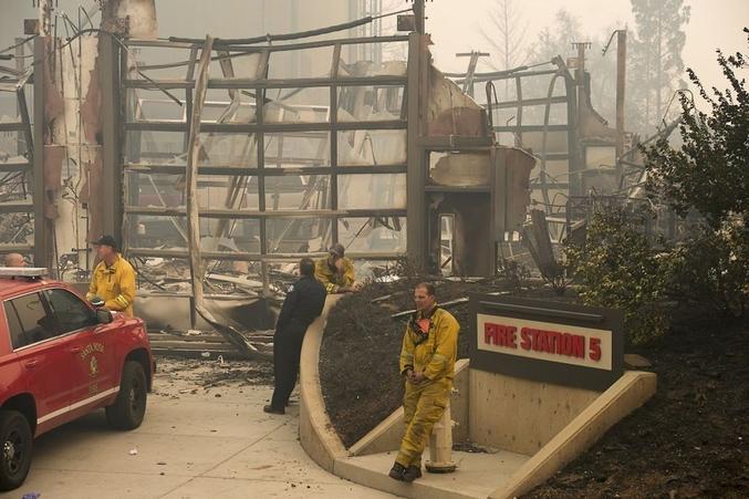 La caserne des pompiers de Santa Rosa.
