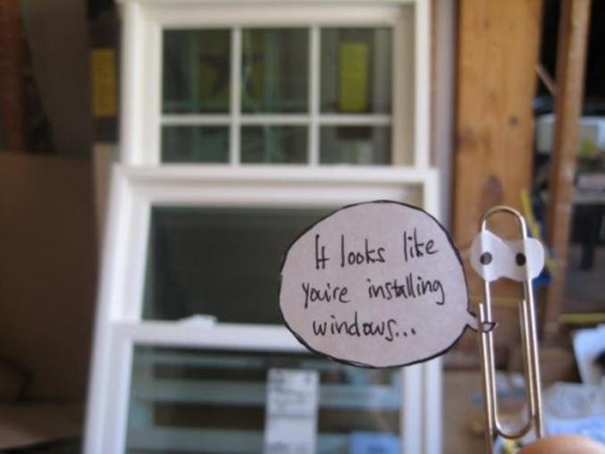Il semblerait que vous installez des fenêtres (rhaaa merde la trad pète tout bon bah les anglophobes passez votre chemin allez oust oust)