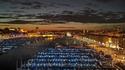 Le Vieux-Port de Marseille le soir