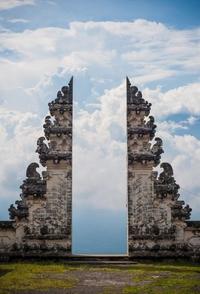 Portes Temple balinais