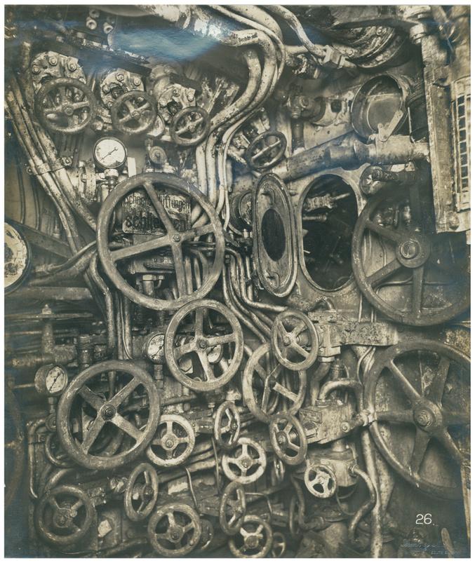 Dans le sous-marin allemand Unterseeboot 110.