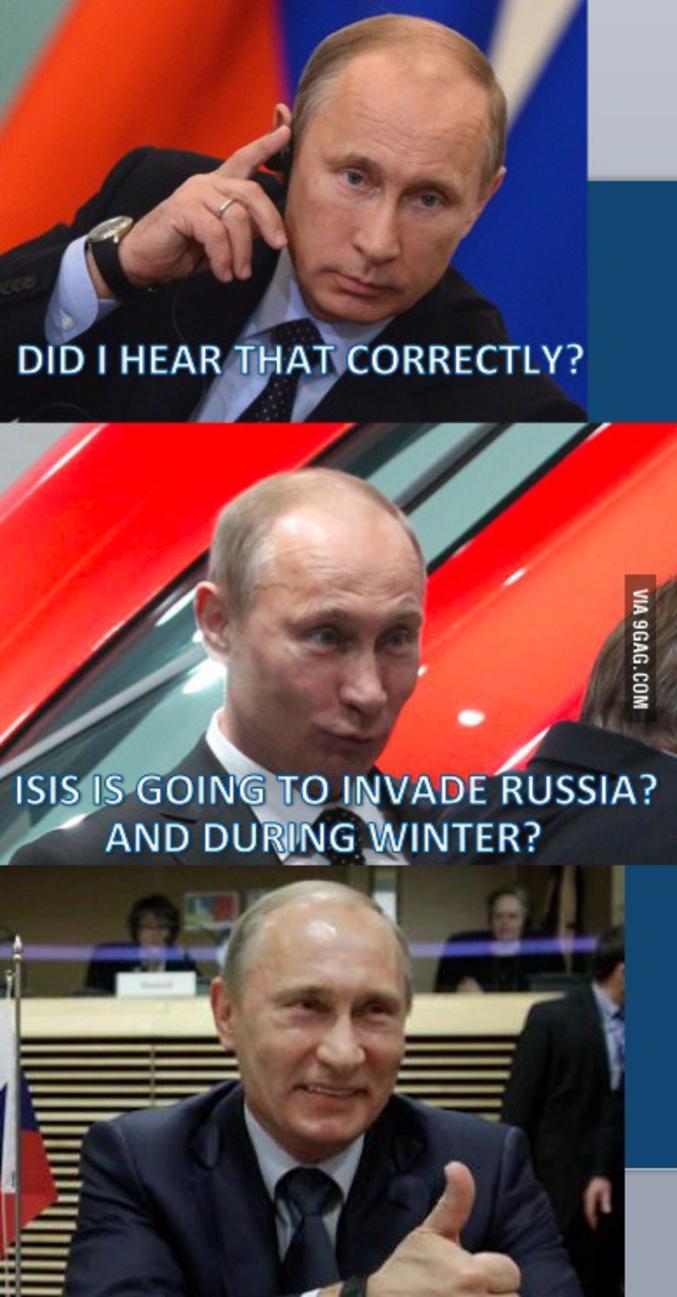 Vladimir vous remercie pour cette blague ! (& 9gag aussi par la même occasion)