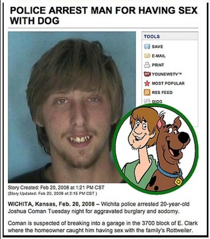 Il aime beaucoup Scooby-Doo.