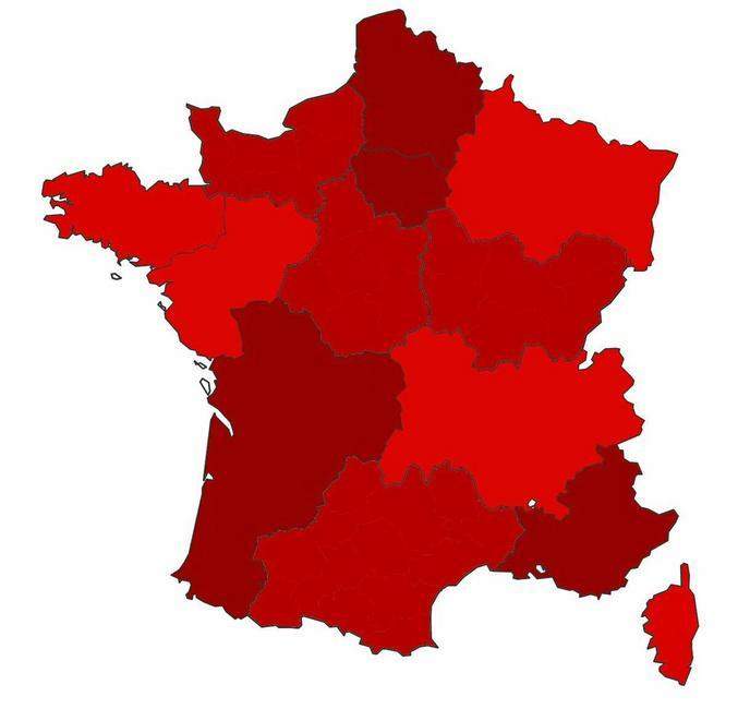 Le gouvernement annonce une nouvelle carte avec des zones rouge, très très rouge, super rouge, extra méga rouge, rouge écarlate et rouge de ouf. https://www.lunion.fr/id192659/article/2020-09-23/coronavirus-des-categories-super-rouge-ou-ecarlate-pour-plusieurs-metropoles?from_direct=true