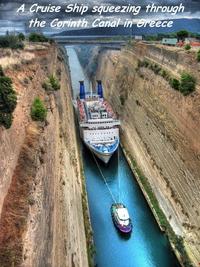 Passage du canal de Corinthe