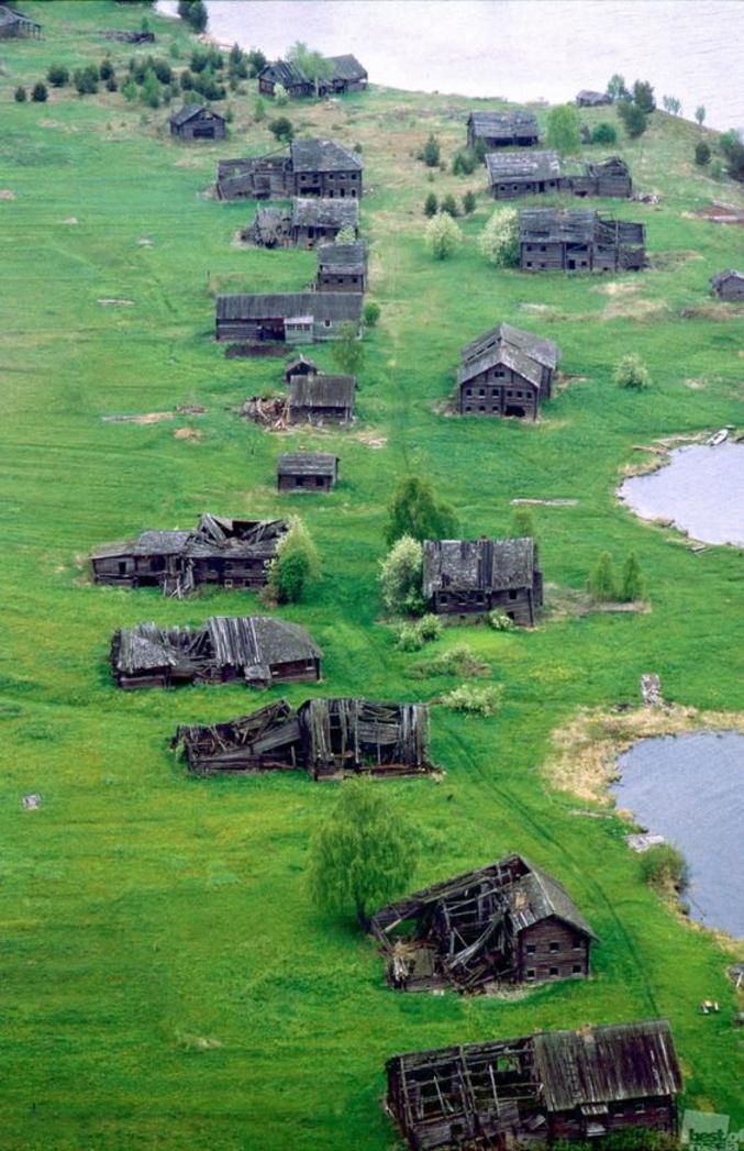 Village russe abandonné en Carélie.