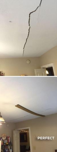 J'ai réparé le plafond
