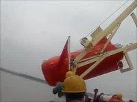 Test d'un canot de sauvetage