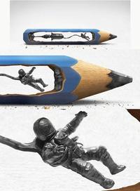 Un crayon de l'espace
