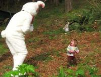 Bientôt Pâques: le rêve des enfants.