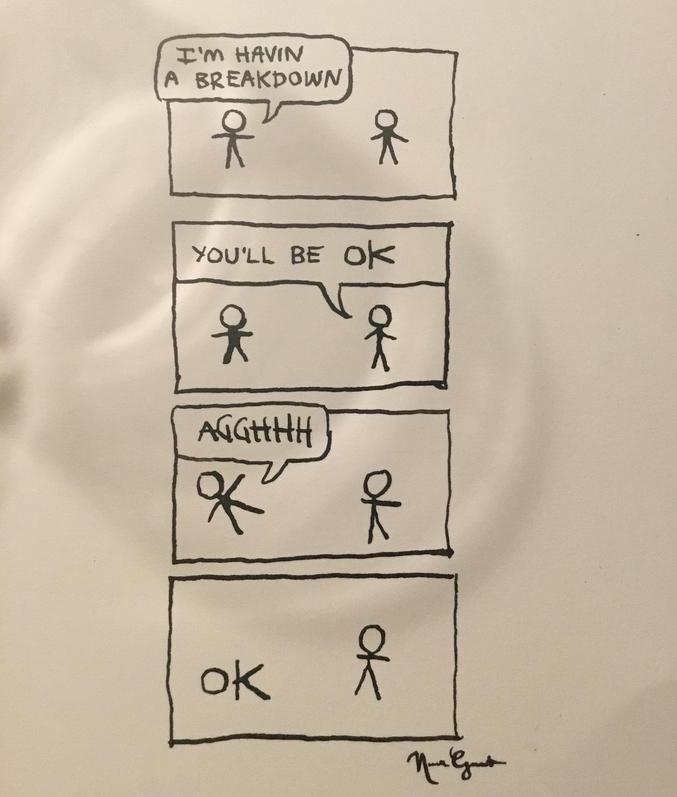 - Tu seras toujours OK. - Aaaargh ! ...