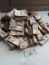 Voilà tout ce qu'il faut en monnaie du Vénézuela pour obtenir l'équivalent d'1 dollar !