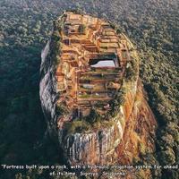 Forteresse naturelle de Sigiriya au Sri Lanka