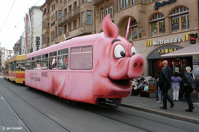 Un train assez... cochon !