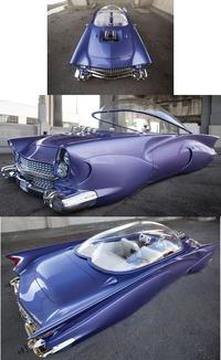 "Une Ford de 1955 dite ""Beatnik"", fortement customisée"