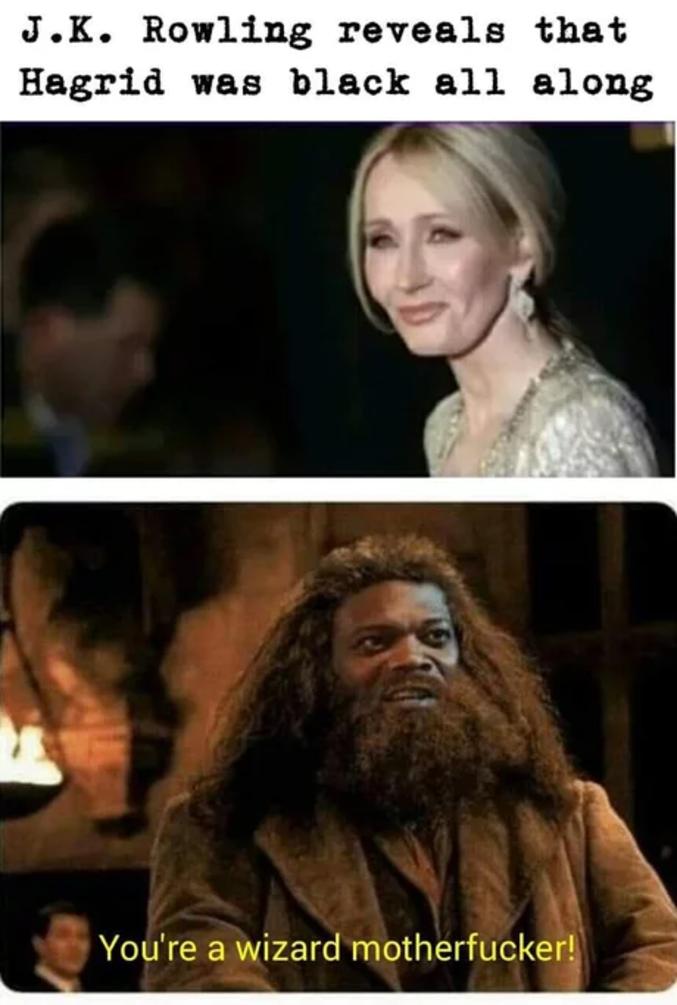 Hagrid était noir ?