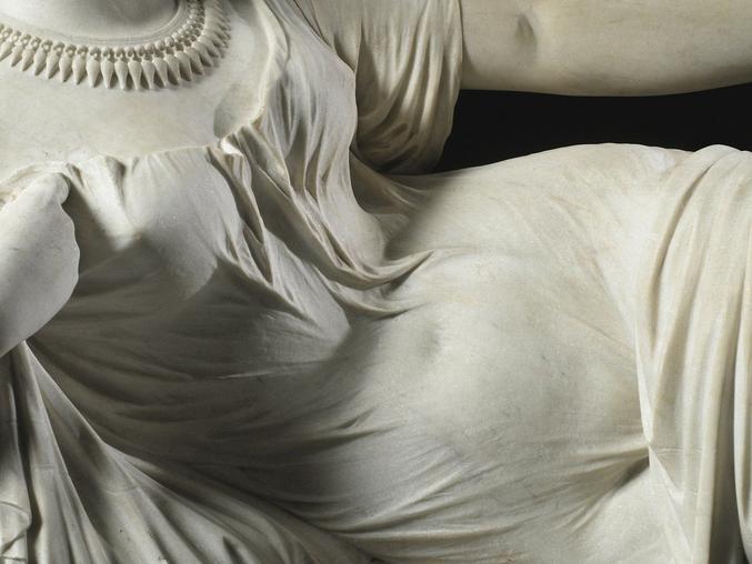 Œuvre de Auguste Clésinger, 1861, sculpteur romantique. Collection privée. Il a notamment sculpté le monument funéraire de Chopin ( enfin, une partie ). Anecdote amusante, il partage sa tombe, au Père Lachaise, avec Rémy de Gourmont et Berthe de Courrière, qui fut la maîtresse de ces deux messieurs.