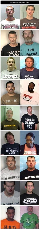 Porter le bon tee-shirt le jour de son arrestation