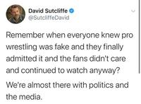 Une belle description de la politique et des médias