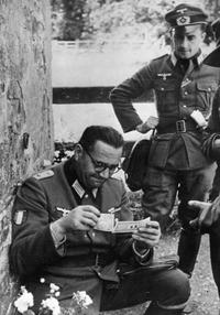Jacques Doriot, chef du PPF (mouvement collaborationniste) en lieutenant de la werhmacht.