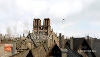Paris au Moyen-Âge en 3D à vol d'oiseau