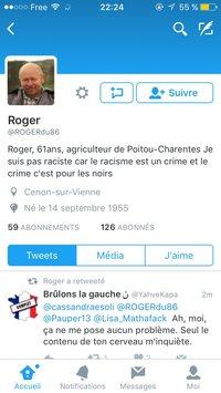 Roger n'est pas raciste