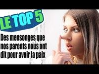 Le top 5 des mensonges que nos parents nous ont dit pour avoir la paix