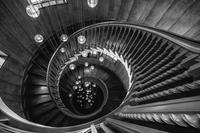 Perspective en trémie d'escalier