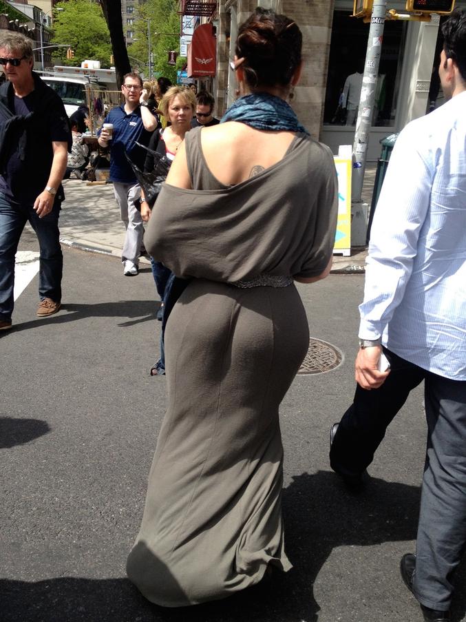 ...mais une robe, c'est moins banal.