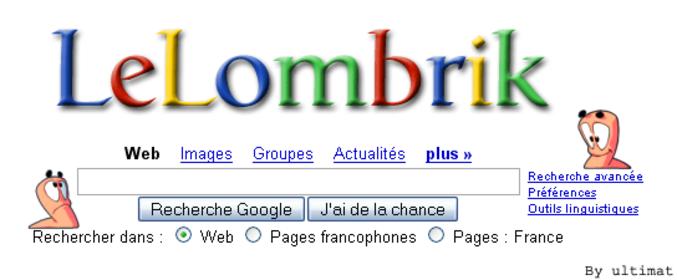 Un moteur de recherche Lelombrik !