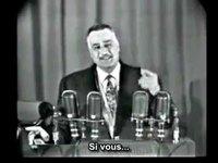Le président Nasser parle de son entretien avec les Frères Musulmans