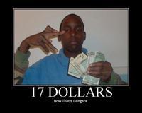 17 Dollars...