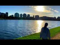 Promenade autour du Albert Park Lake, Melbourne, Australie
