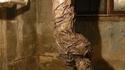 Ceci n'est pas uncadavre enveloppé et pendu au plafond de la cave...