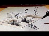 Du dessin 3D , anamorphique !