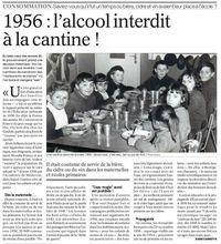 1956 : l'alcool interdit à la cantine