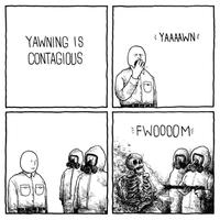Bailler est contagieux