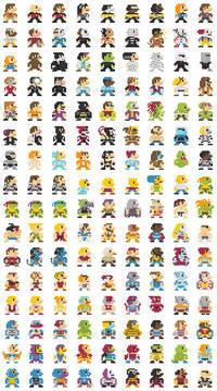 Des personnages en 8-bits