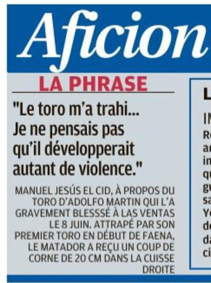 ... qui manquent tant de savoir-vivre en ne se laissant pas occire docilement. (Vu dans La Provence du 16/6/18).