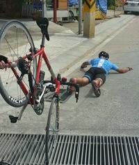 Magnu chute à vélo