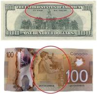 Billet de 100$ au Canada et aux States
