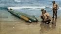 Avril 1944, sur la plage d'Anzio (Italie) s'est échoué un mini sous-marin suicide