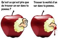 Trouver un ver dans sa pomme