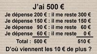 J'ai 500 €