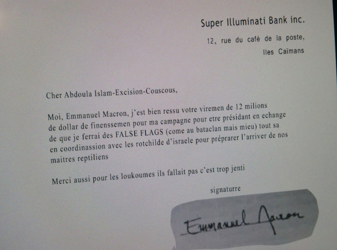 Macron, cet Islamo-couscousso-israélo-reptilien.
