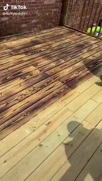 Petite astuce terrasse en bois