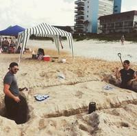 Beer pong des sables