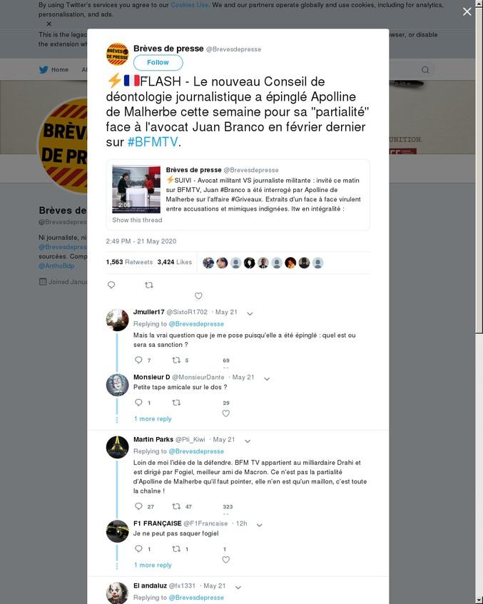 Les journalistes-caniches du Pouvoir en France, une espèce en voie de disparition ? ^^'  PS. pour une fois je cherchais l'anticatégorie 'monde-de-merde' :] PPS. Macron doit vraiment plus avoir la cote. A mon avis, le 2e tour des municipales c'est pour assurer une place bien au chaud à tous les ministres qui veulent se barrer...